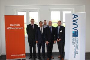 v. L. Thomas Renken (Volksbank Jever eG), Guido Krüger (pro-votum), Sören Kläner (Oldenburgischen IHK), Andreas Brinker (compertis) und Henning Wessels (Arbeitgeber- und Wirtschafts-verband Jade e.V.)